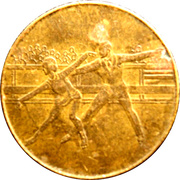Token - 1980 Winter Olympic, Lake Placid (Figure Skating) – reverse