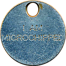 Token - I am microchipped – obverse