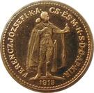 10 Korona - I. Ferenc József (Replica: Zlatá Huta (Trenčín)) – obverse