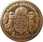 10 Korona - I. Ferenc József (Replica: Zlatá Huta (Trenčín)) – reverse