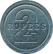 2 Rupees - L'amicale de Port-Louis Ltee – reverse