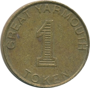 1 Token - Bottons Pleasure Beach (Great Yarmouth) – reverse