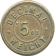 Token - 5 Oz (Decimal weight) – obverse