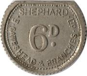 6 Pence - E. Shephard Ltd (Gateshead) – obverse