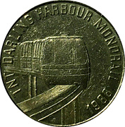 Token - TNT Darling Harbour Monorail (Bicentenary) – reverse