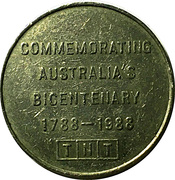 Token - TNT Darling Harbour Monorail (Bicentenary) – obverse