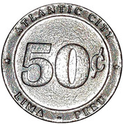 50 Centavos - Casino Atlantic City – reverse