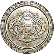 25 Centavos - Casino Atlantic City – obverse