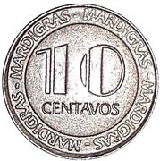 10 Centavos - Casino MardiGras – reverse