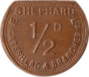 ½ Penny - E. Shephard Ltd (Gateshead) – reverse