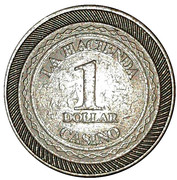 1 Dollar - Casino La Hacienda – reverse