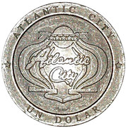 1 Dolar - Casino Atlantic City – obverse