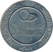 Token - Sam Billares Billiards – obverse