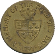 Spade Guinea Gaming Token - George III (In memory of the good old days) – reverse