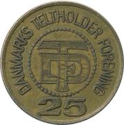 25 Øre - Danmarks Teltholder Forening – reverse