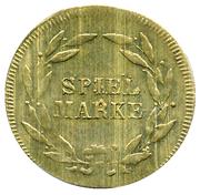 Spiel Marke (double-headed eagle) – reverse