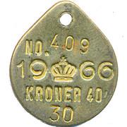40 Kroner Token – obverse