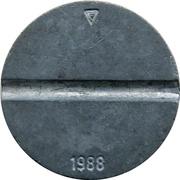 Telephone Token - COMTECO (date on reverse; triangle) – reverse