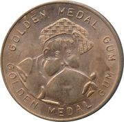 Golden Medal Gum (Cycling; 2 cyclists side by side) – reverse