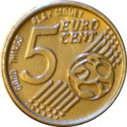 5 Euro Cent (Play money) – obverse