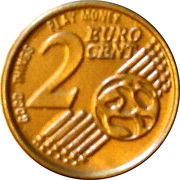 2 Euro Cent (Play money) – reverse