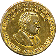 Token - Grover Cleveland (22nd & 24th President) – obverse