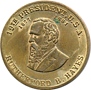 Token - Rutherford B. Hayes – obverse