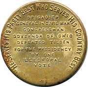 Token - Rutherford B. Hayes – reverse