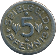 5 Pfennig (Spielgeld; Globe) – reverse