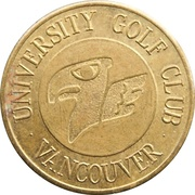 Golf Token - University Golf Club – obverse