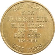 Golf Token - University Golf Club – reverse
