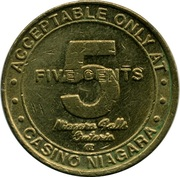 5 Cents Gaming Token - Casino Niagara – reverse
