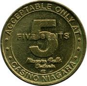 5 Cents Gaming Token - Casino Niagara – reverse