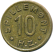 10 Spillemønt - HZ – reverse