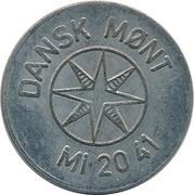 25 Spillemærke - Indløses Ikke (Dansk Mønt MI 20 41) – obverse