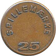 25 Spillemærke - Indløses Ikke (Fortuna vejle) – reverse
