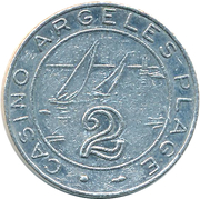 Token - Casino Argeles Plage (2) – reverse