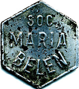 Token - Soc. Maria Belen vineyard – obverse