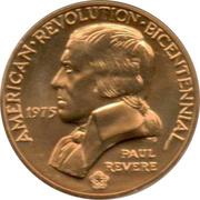 Medal - American Revolution Bicentennial (Paul Revere) – obverse