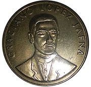 Token - Philippine Centennial (Graciano Lopez Jaena) – obverse