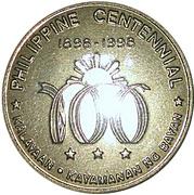 Token - Philippine Centennial (Graciano Lopez Jaena) – reverse