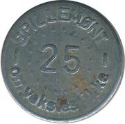 25 Spillemønt - Omveksles ikke – reverse
