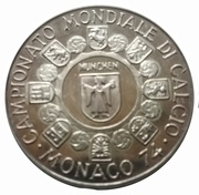 Token - 1974 FIFA World Cup – reverse