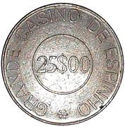 25 Escudos - Grande Casino de Espinho – reverse