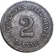 2 Pfennig (Spiel-Münze Lauers) – reverse