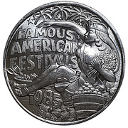 Mardi Gras Token - Famous American Festivals (Jefferson Parish, Louisiana) – obverse