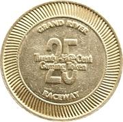 25 Cent Gaming Token - Grand River Raceway – reverse
