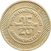 25 Cent Gaming Token - Mohawk Racetrack – reverse