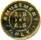 Amusement Token - A.S and A.S – obverse