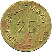 25 Spillemønt - Polet Indløses ikke – reverse